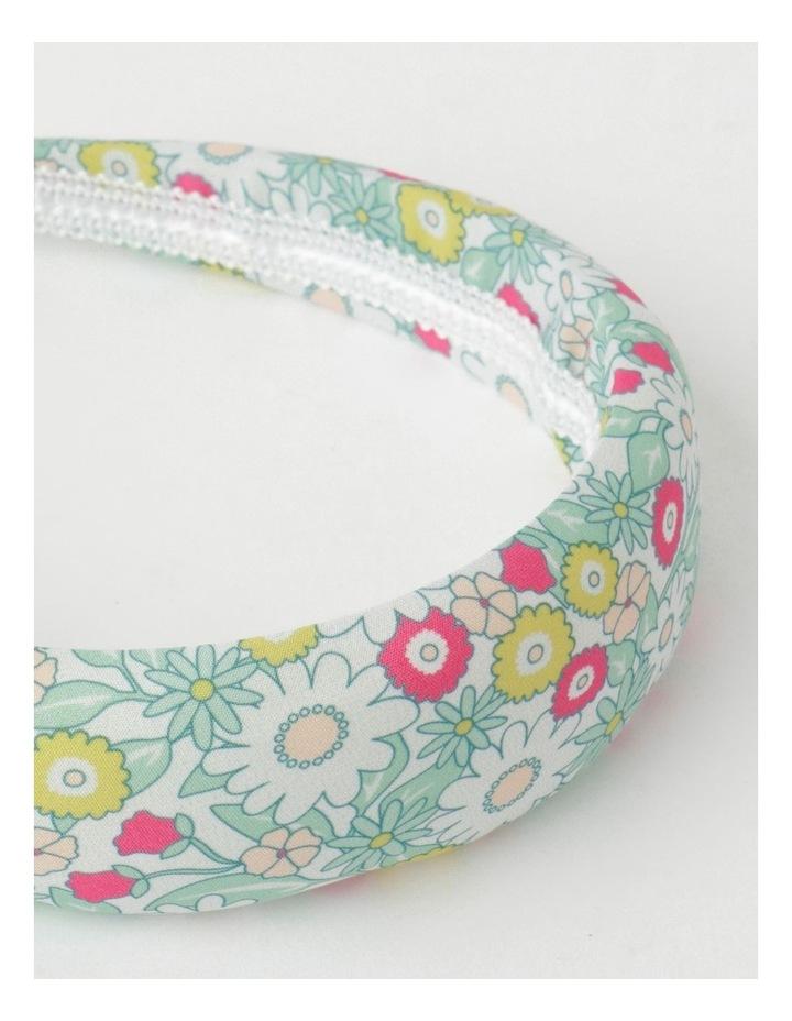 Green Floral Padded Headband image 4