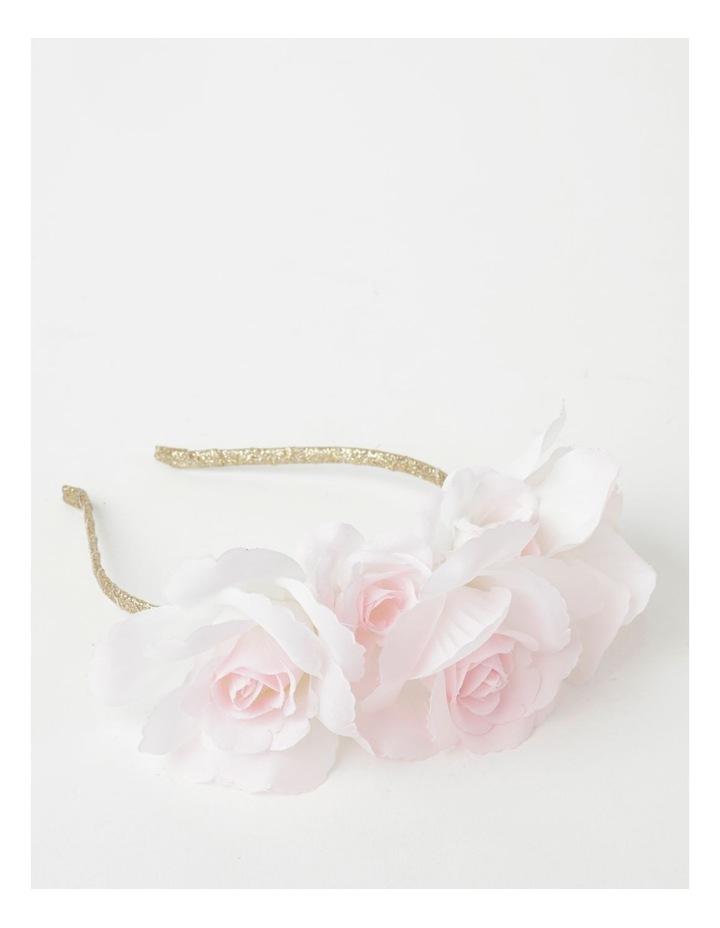Gold Headband with 3D Chiffon Flower image 1