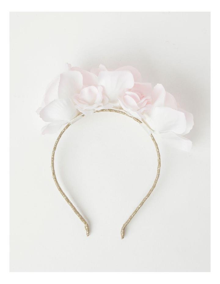 Gold Headband with 3D Chiffon Flower image 2