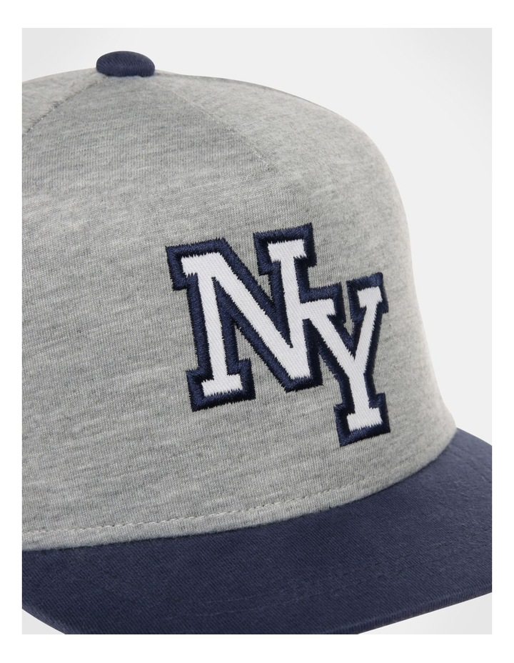 NYC Grey/Navy Knit Cap image 2