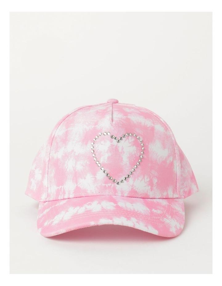 Tie Dye Heart Pink Cap image 1