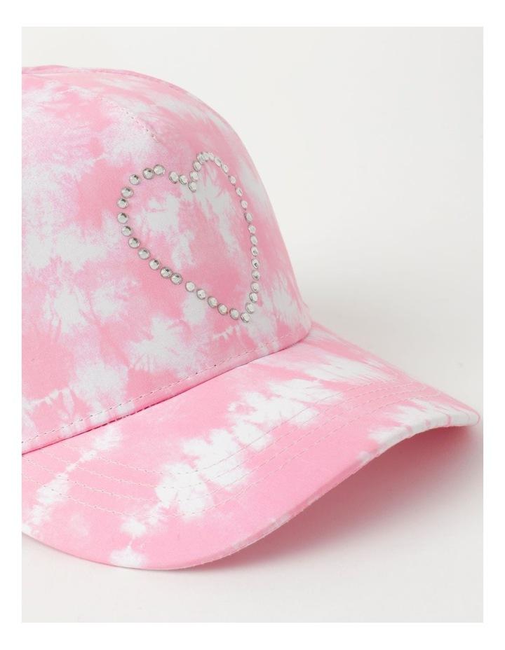 Tie Dye Heart Pink Cap image 4