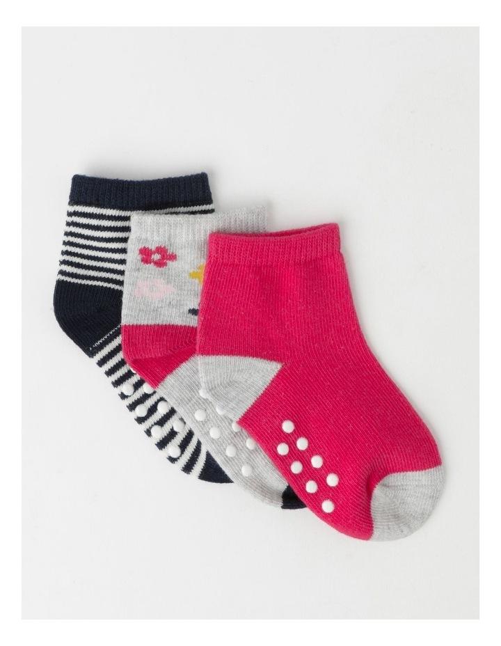 Jacquard Newborn Socks 3 Pack image 1