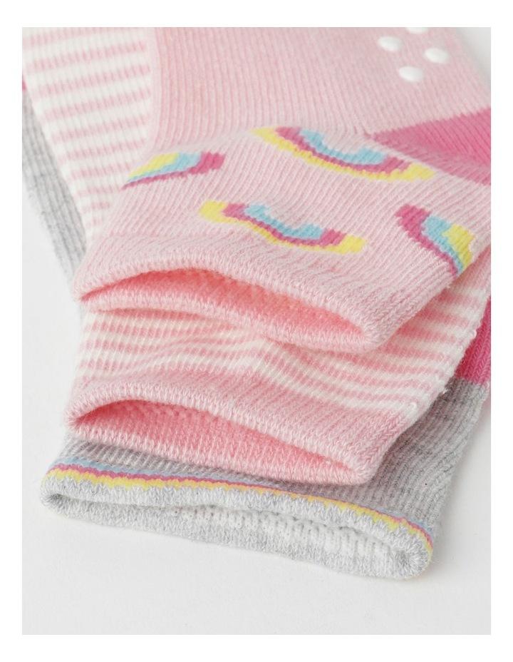 Jacquard Newborn Socks 3 Pack image 2