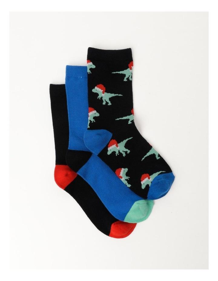 Christmas Socks 3 Pack Assorted image 1