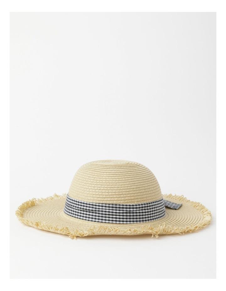 Raw Edge Straw Hat image 1
