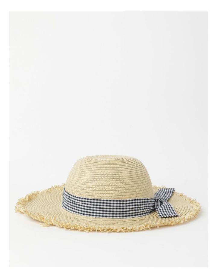 Raw Edge Straw Hat image 2