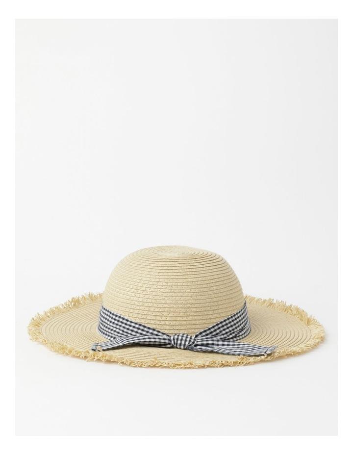 Raw Edge Straw Hat image 3