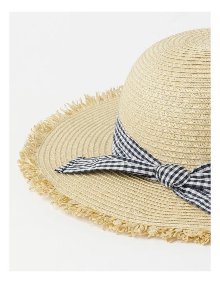 Raw Edge Straw Hat image 4