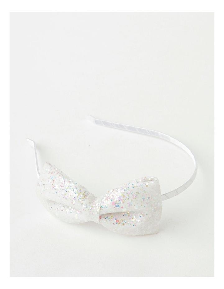 Glitter Bow Silver Headband image 1