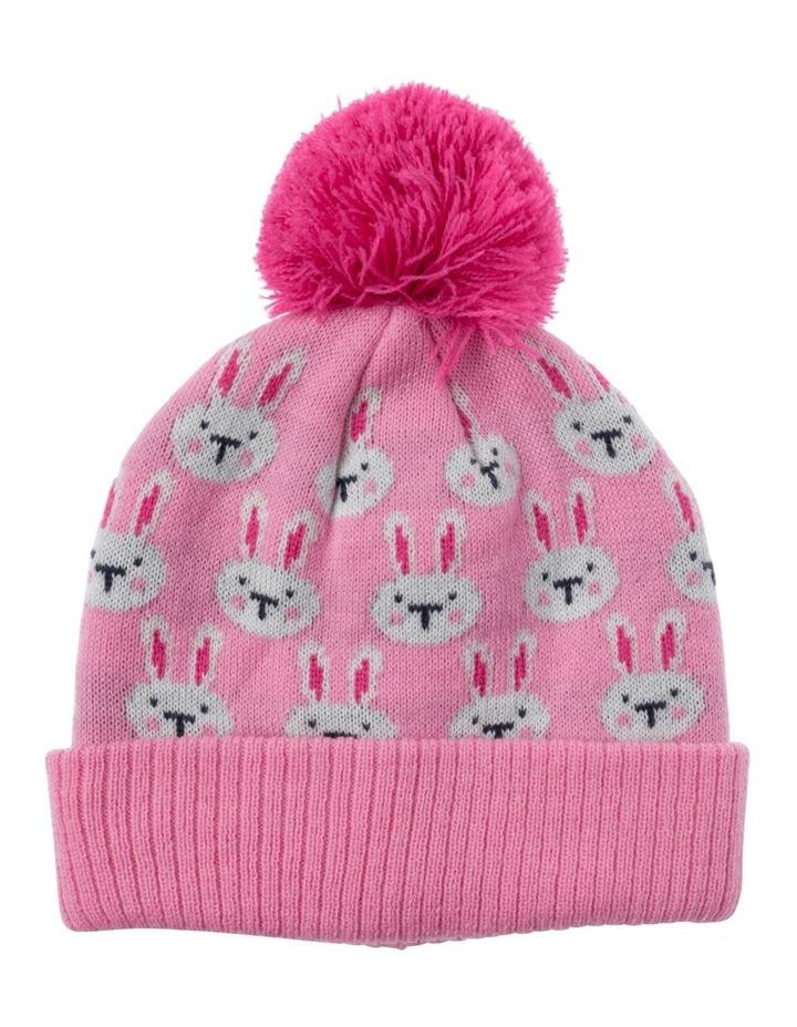 Girls Bunny Jacquard Beanie image 1