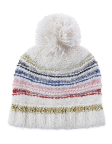 66dcda20007 Tilii Knit Beanie with Multi Stripe