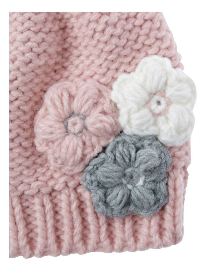 Girls Crochet Flower Beanie image 2