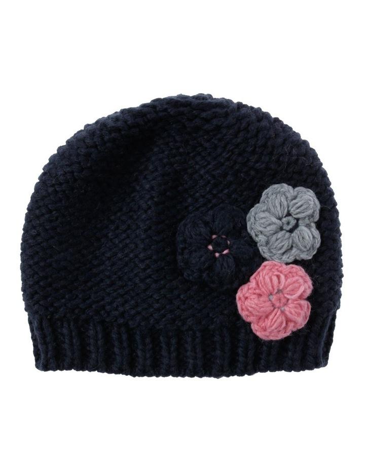 Girls Crochet Flower Beanie image 1
