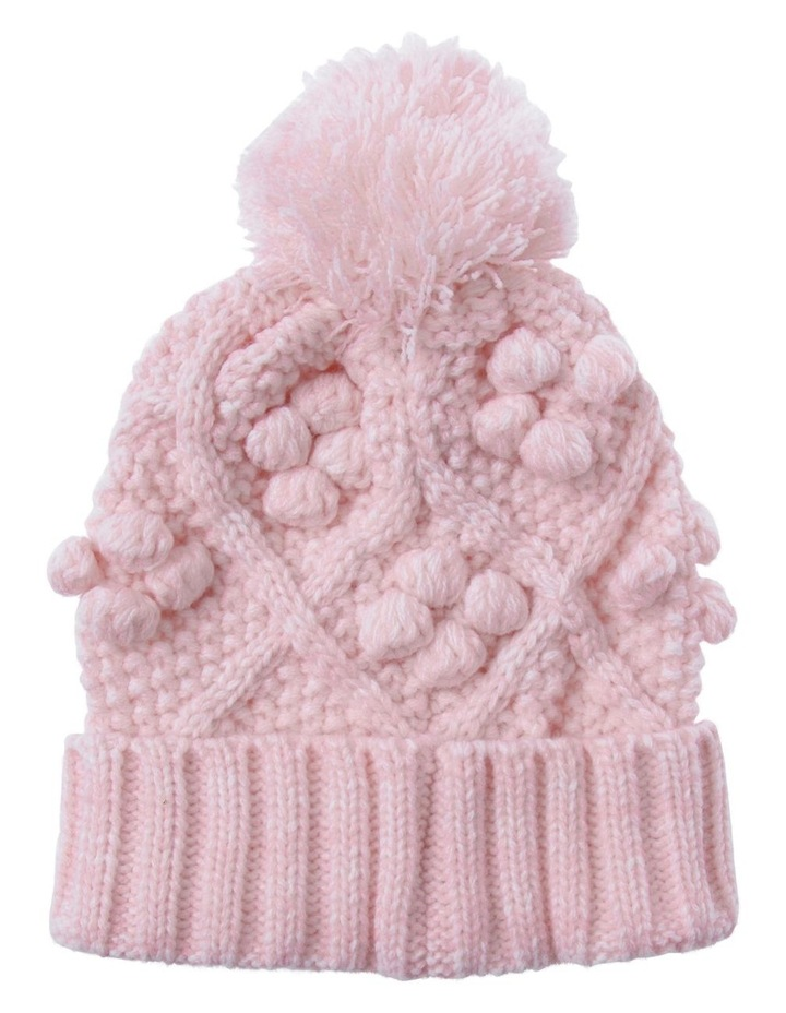 Girls Cable and Bobble Beanie image 1