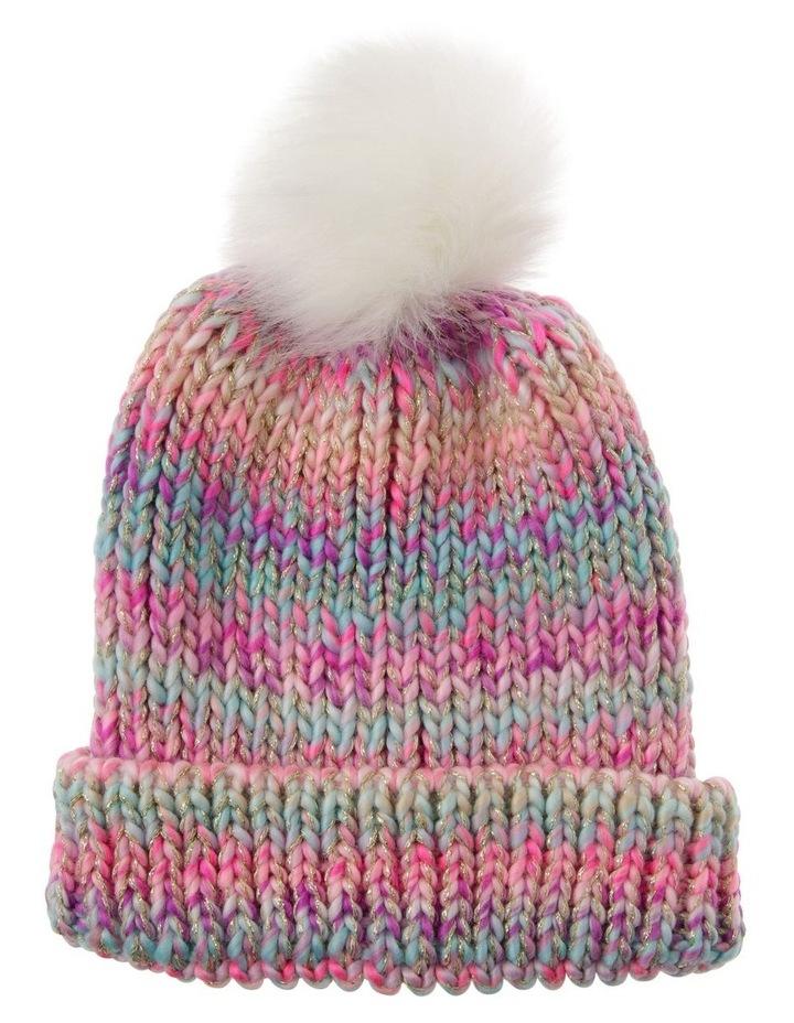 Pastel Chunky Twist Yarn Beanie image 1