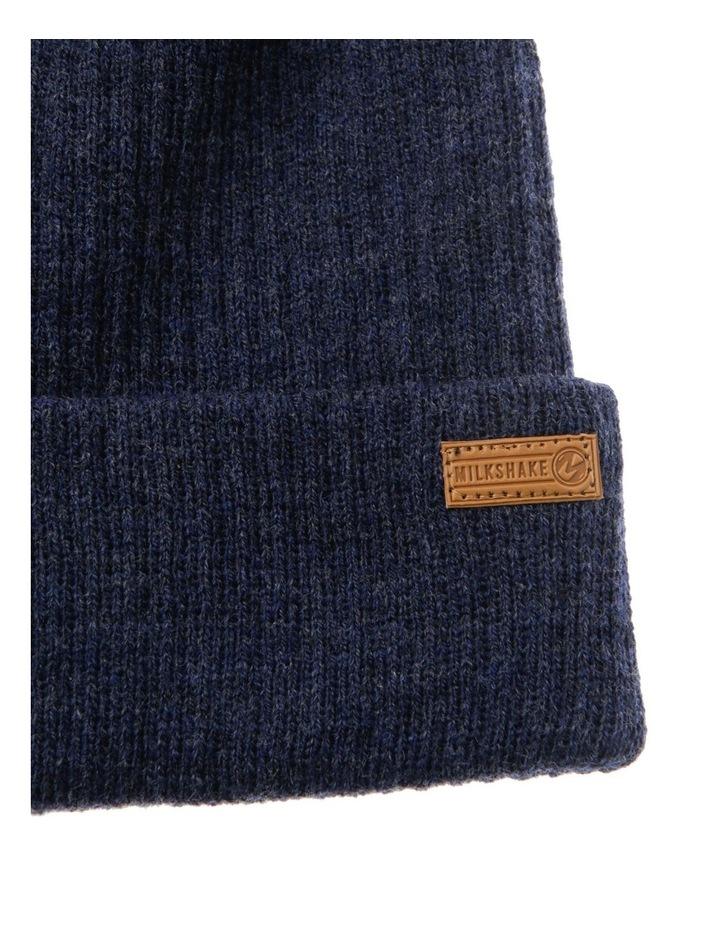 Navy Marle Rib-Knit Beanie image 2