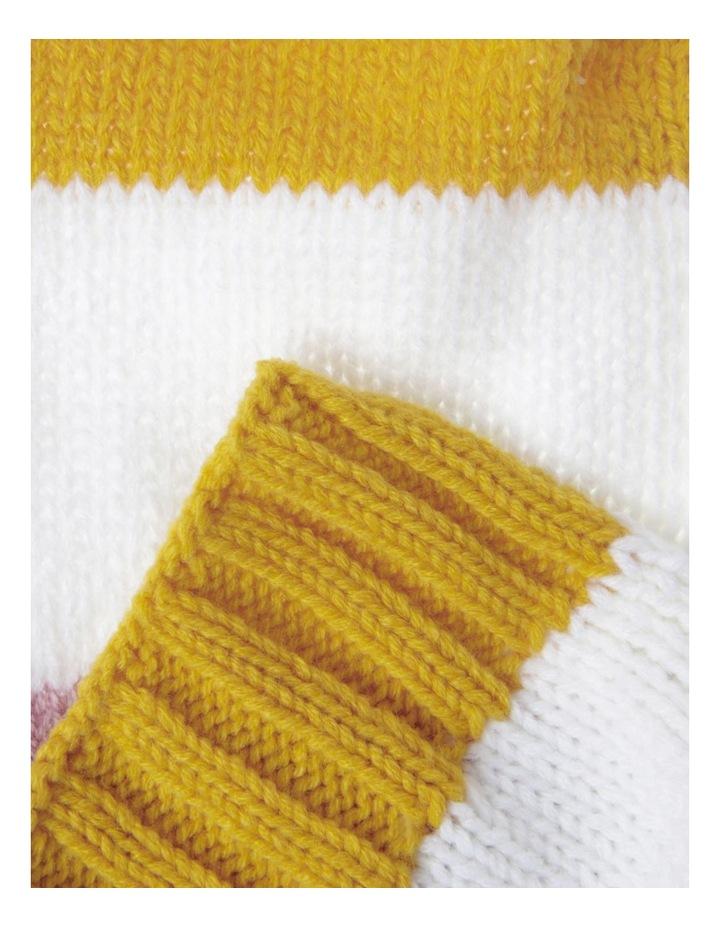 Girls Bold Stripe Chunky Scarf image 2