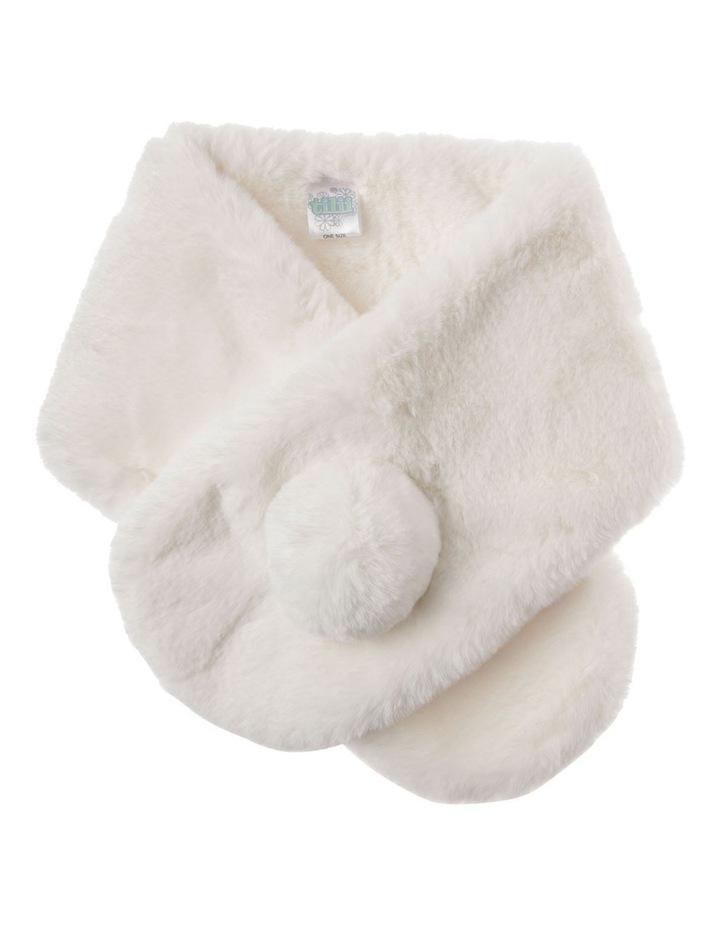 Cream Faux Fur Scarf image 1