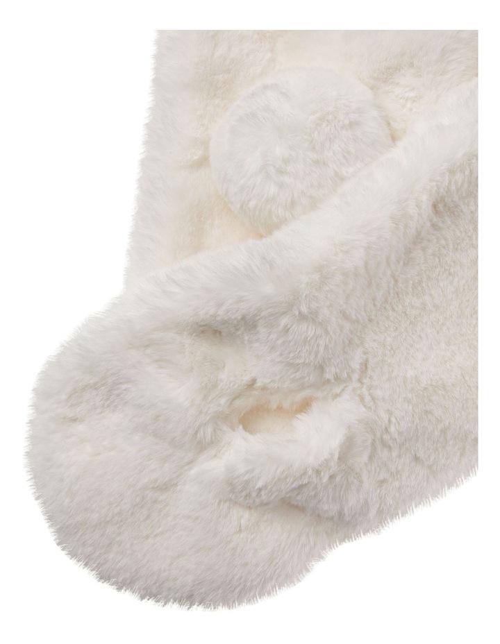 Cream Faux Fur Scarf image 2