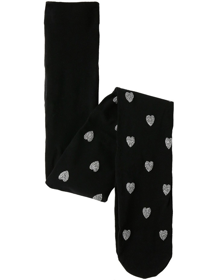 Glitter Print Heart Tights image 1