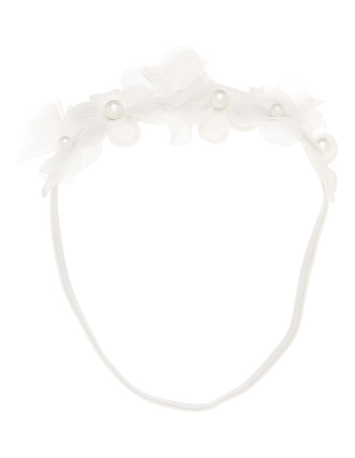 Elastic Headband with Chiffon Flower image 1