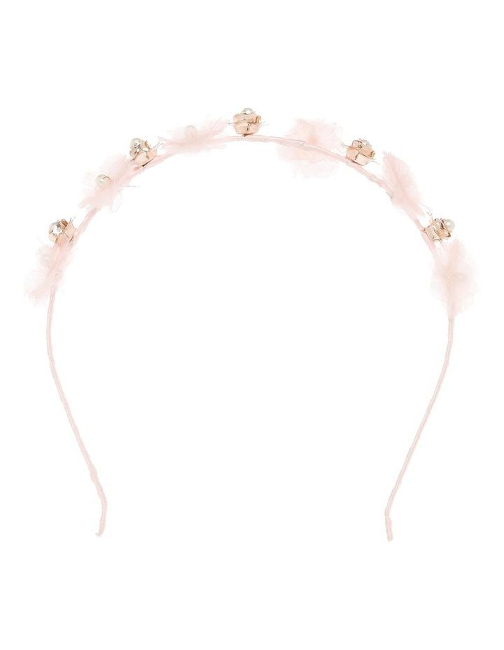 Chiffon Flower With Pearl Headband image 1