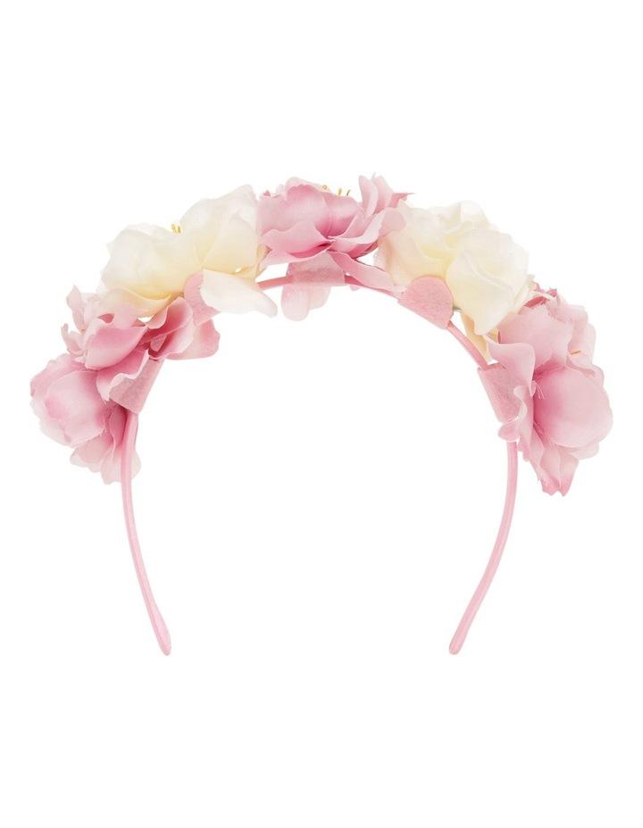 Origami Large Pink Fabric Flower Headband image 1