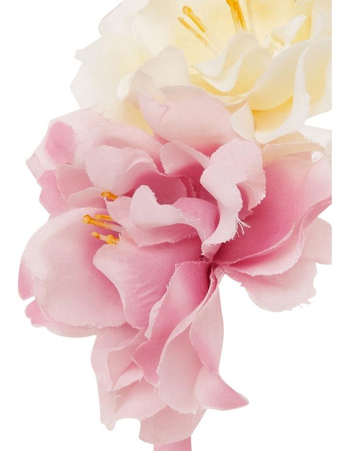 Origami Large Pink Fabric Flower Headband image 3