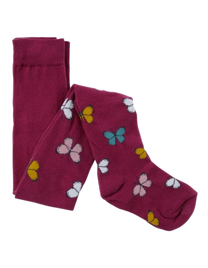 Girls Butterfly Jacquard Tights image 1