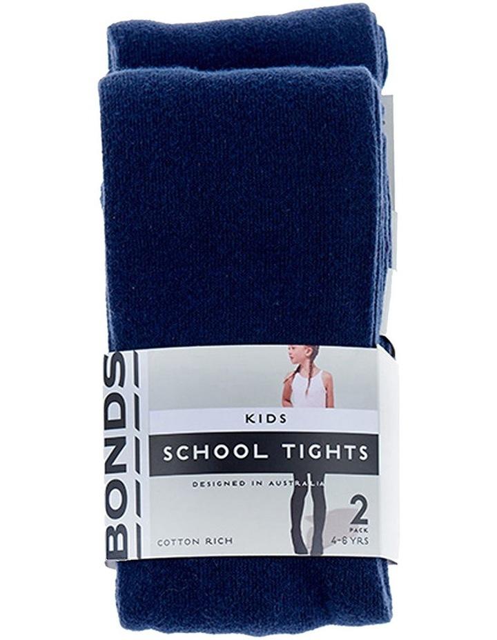 KIDS SCHOOL TIGHTS 2 PACK image 1