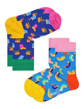 Happy SocksHamburger Socks 2-Pack f17edd3b0