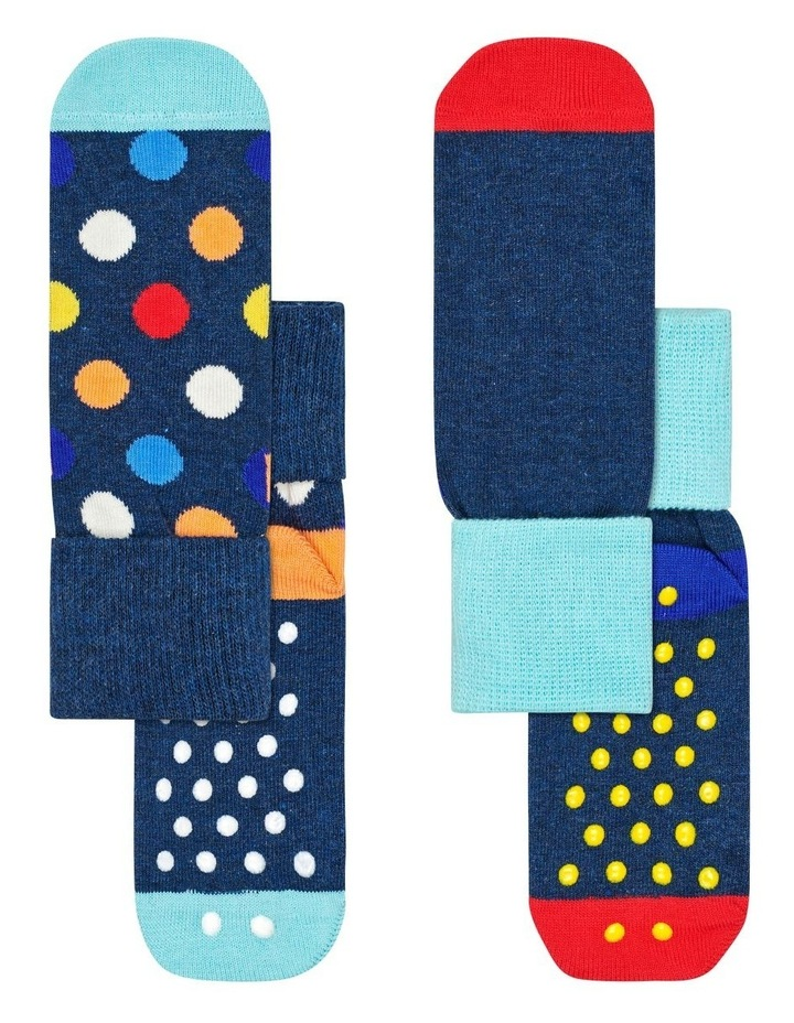 2-Pack Big Dot Anti-Slip Socks image 1