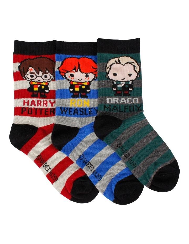 Harry Potter Character Crew Socks 3 Pack image 1
