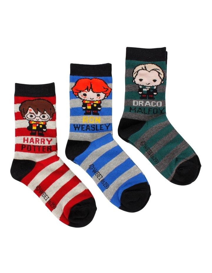 Harry Potter Character Crew Socks 3 Pack image 2