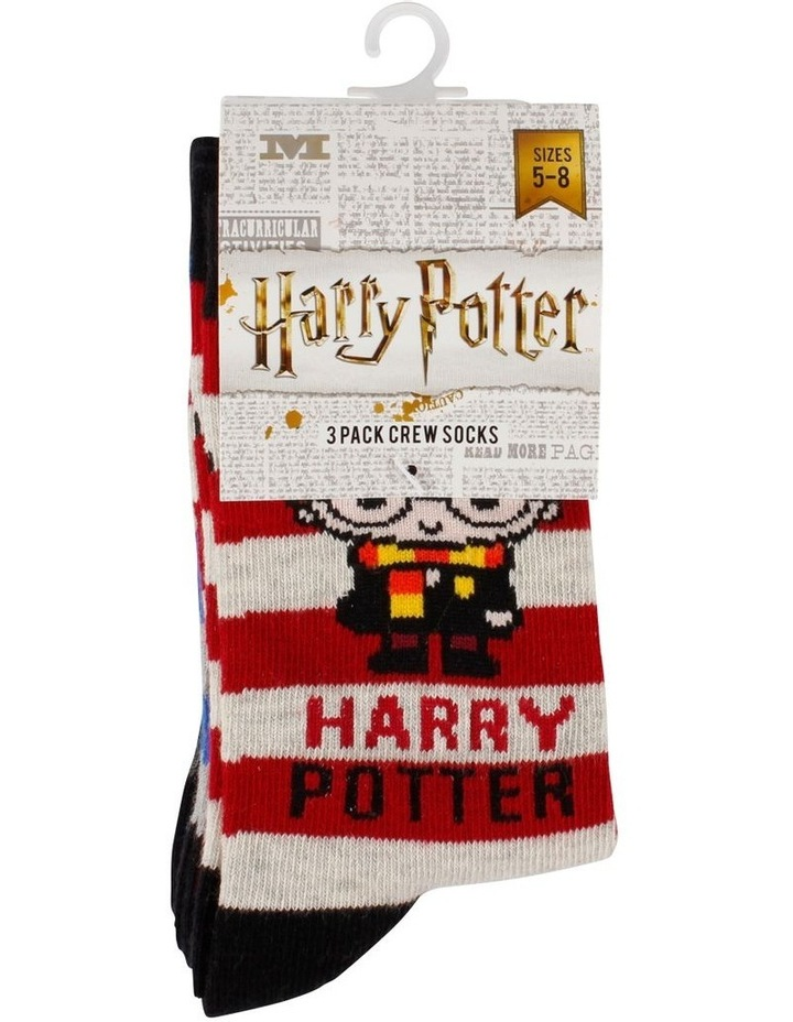 Harry Potter Character Crew Socks 3 Pack image 3