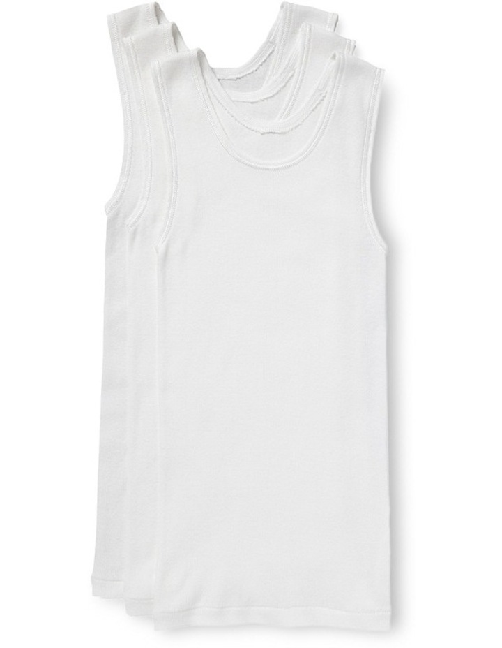 Chesty Singlet 3 Piece Pack White image 1