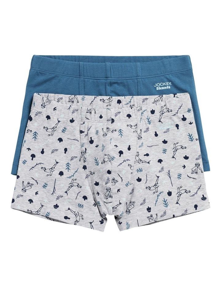 Jockey Boys 2 Pack Cotton Skants Trunks Underwear size 12 Colour Print Black