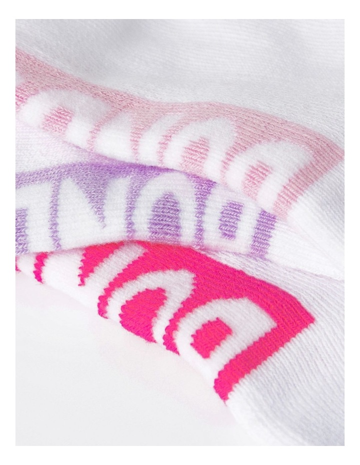 Logo Pink Low Cut Socks 3 Pack image 2