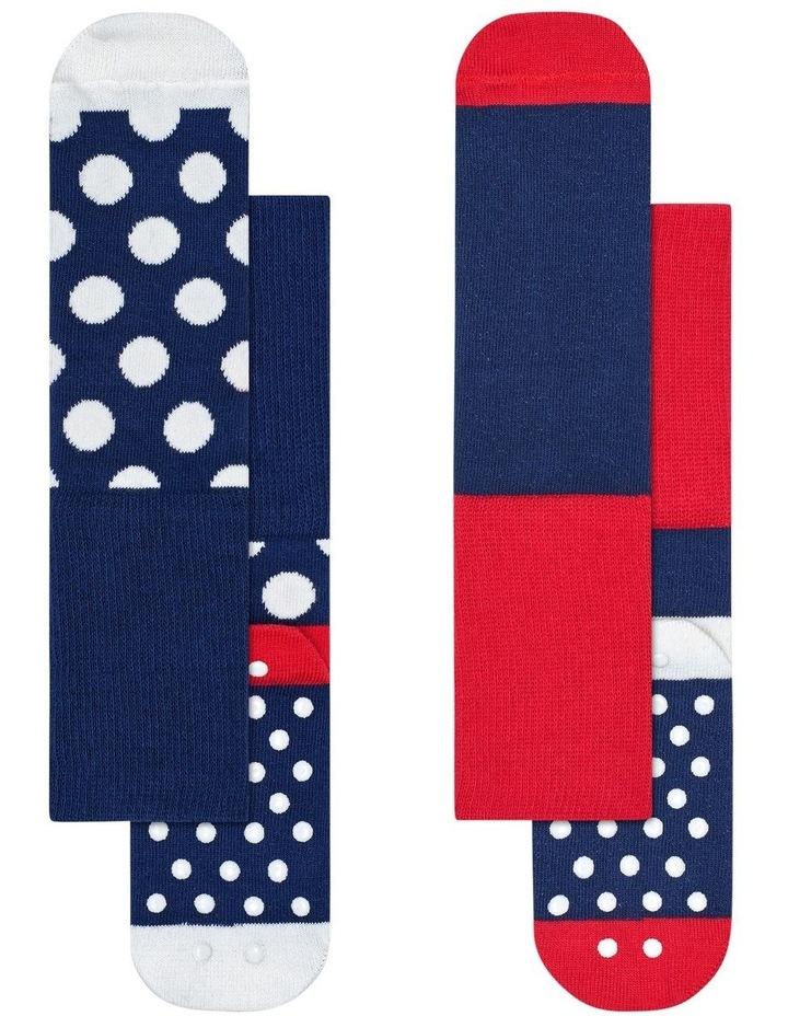 2pk Anti-Slip Dot Socks image 1