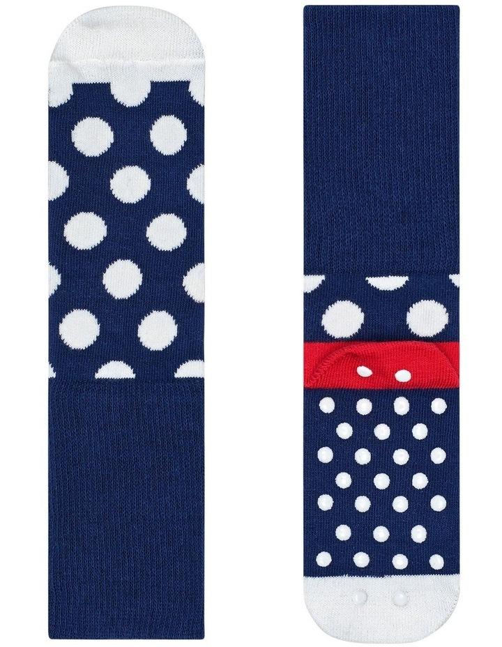2pk Anti-Slip Dot Socks image 2