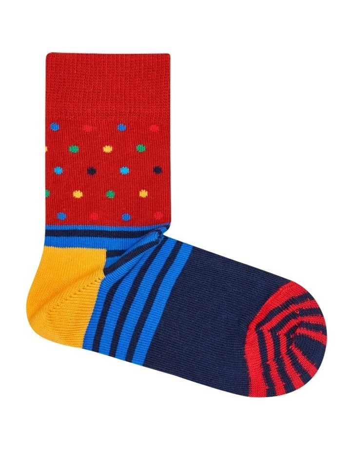 Kids Dot/Stripe Socks image 1