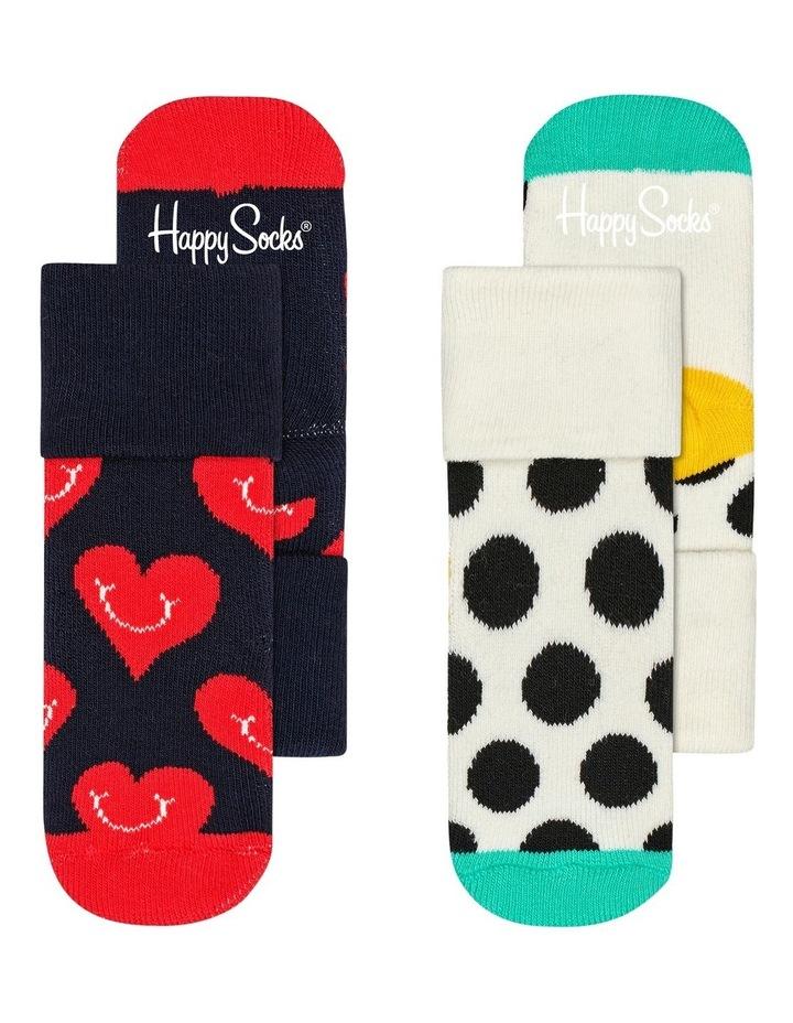 Smiley Heart Terry Socks 2-Pack image 1