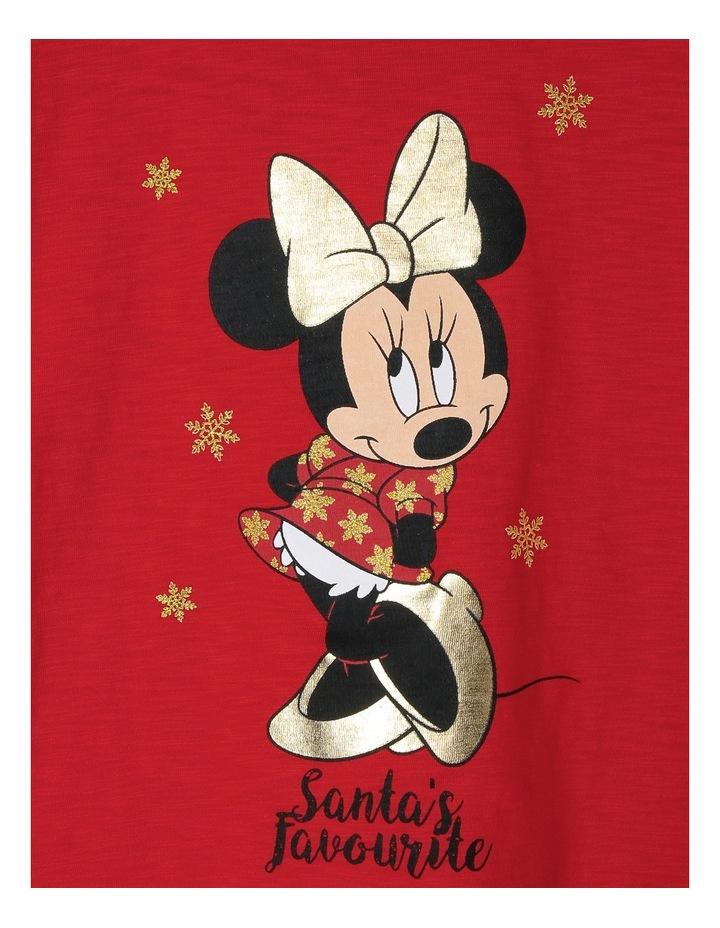 Santa's Favourite Minnie Frill Sleeve Tee image 3