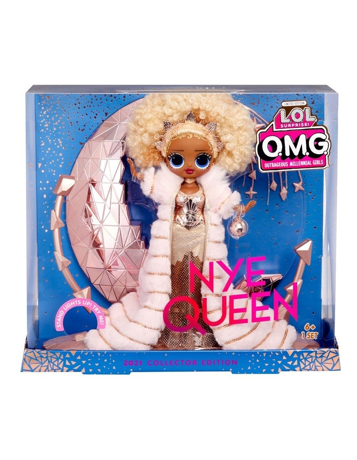 Holiday OMG 2021 Collector NYE Queen Fashion Doll with Gold Fashions and Accessories image 1