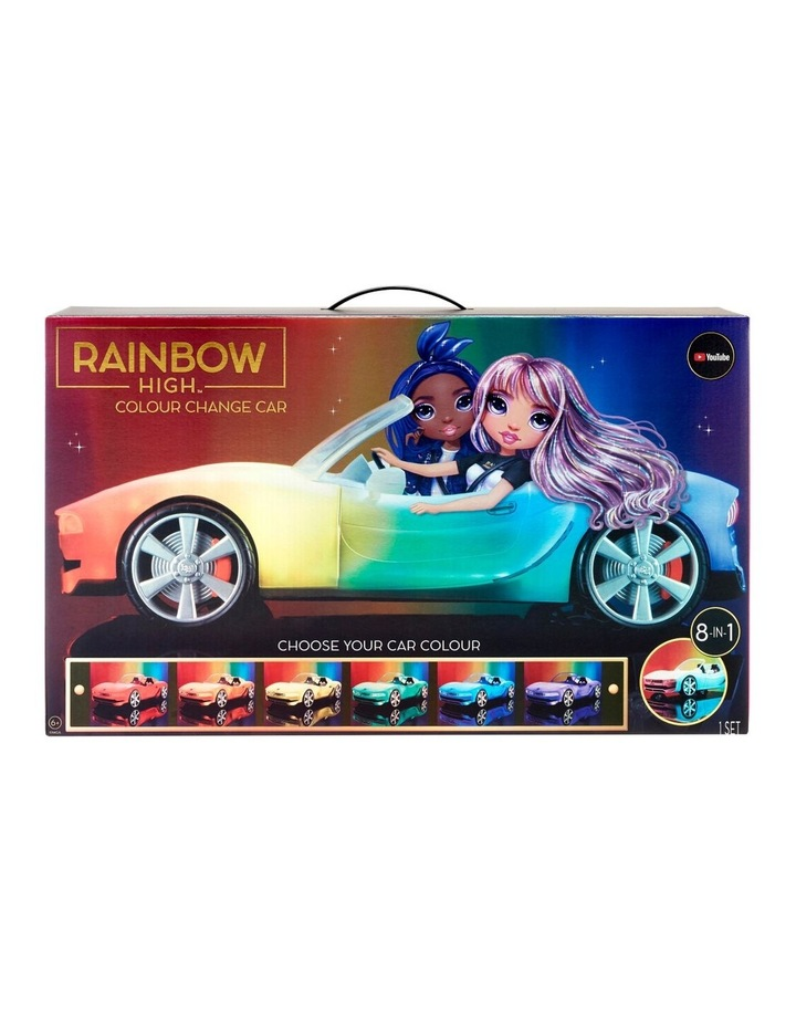 Rainbow High Colour Change Car-Convertible Vehicle With 8-In-1 Led Light-Up Lights, Gift & Collectable For Kids Ages 6 image 1