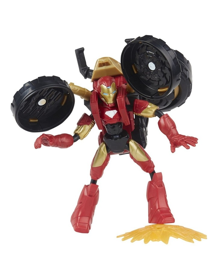 Bend And Flex, Flex Rider Iron Man And 2-In-1 Motorcycle image 1