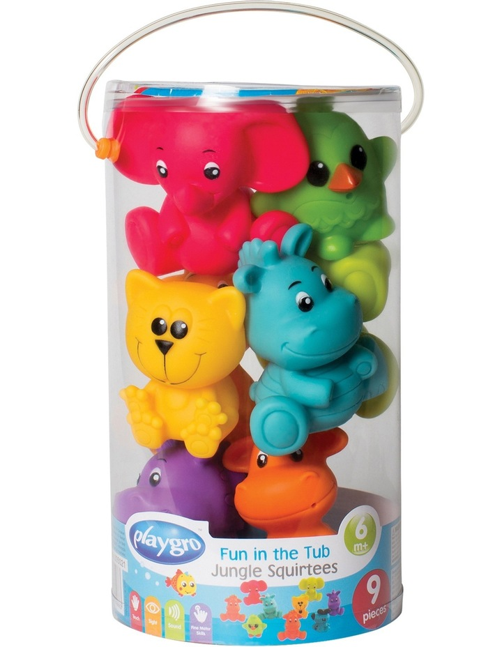 Fun in the Tub Jungle Squirtees 9pcs image 2