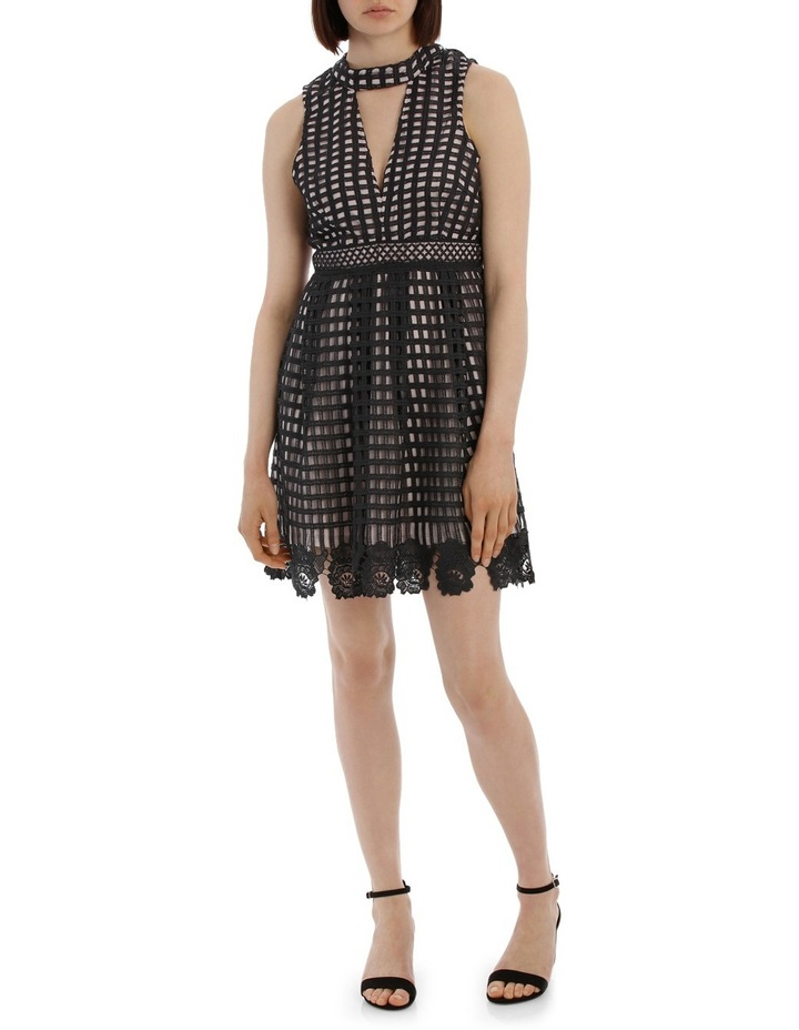Latice Lace High Neck Dress image 1