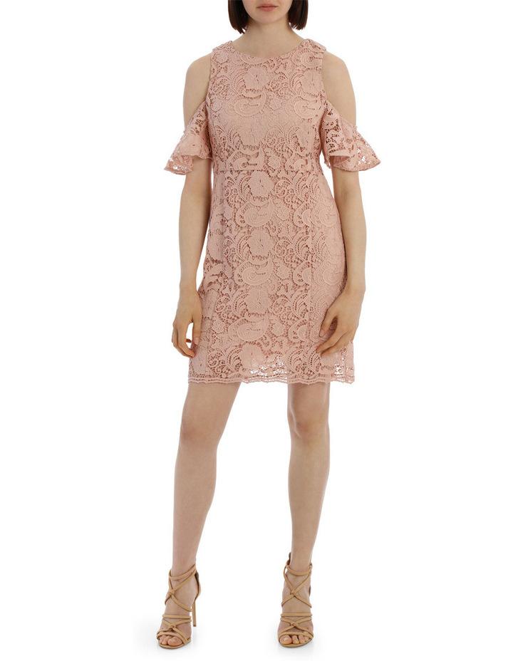 lace cold shoulder dress image 1